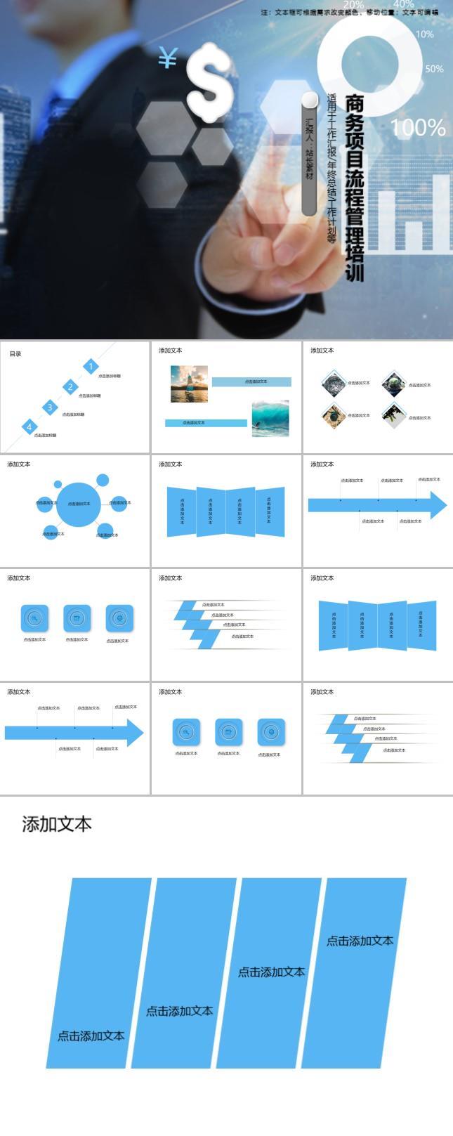 商务项目流程管理培训PPT模板