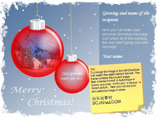 圣诞卡片PPT模板下载