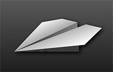 紙飛機折紙步驟flash動畫