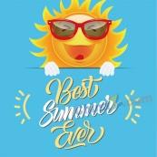 夏日主題海報設計矢量