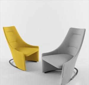 時尚創意單人椅3D模型