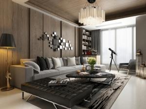 現代客廳家裝模型設計