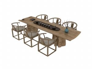 中式茶幾3D模型設計