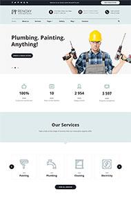 家務維修公司HTML5模板