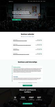 会议活动主题着陆页HTML5模板