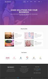 基金公司HTML5网站模板