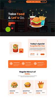 薯條漢堡外賣快餐網站模板