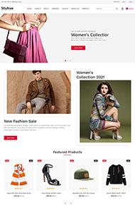 服裝配飾銷售商城HTML5模板