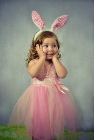 粉色公主裙兒童寫真圖片
