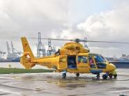 黃色救援直升飛機圖片