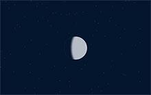 CSS3漫天星空下日食動畫特效
