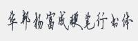 楊富成硬筆行書字體
