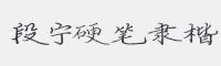段寧硬筆隸楷字體