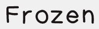 frozem字體
