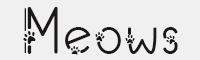 Meows字體