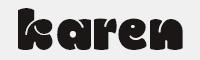 karen-Regular字體