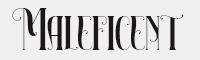 Maleficent字體