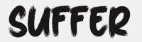 SufferThrough字體