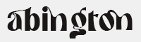 abington bold字體