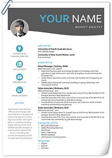 互聯網企業英文簡歷模板