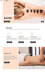 spa按摩美容企业网站模板