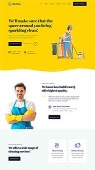 臨時工清潔家政公司網站模板