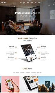 大氣企業產品展示網站模板
