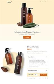 天然草本藥物網站模板