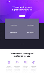 數字創意工作室HTML5模板