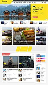 時尚資訊博客網站HTML5模板