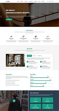 商業資訊平臺網站模板