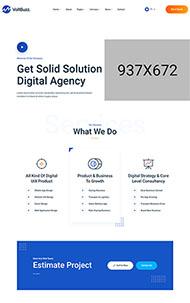 數字科技企業網站HTML模板