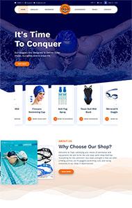 游泳用品商店HTML5網站模板