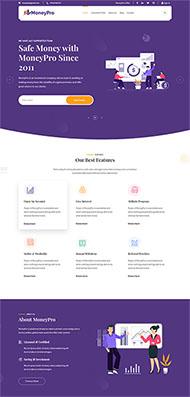 專業的金融理財投資網站模板