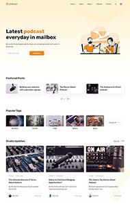 響應式播客博客網站模板