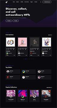 酷炫藝術品拍賣平臺網站模板