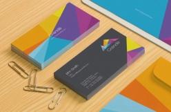 色彩名片設計模板PSD