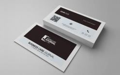 黑白現代名片設計PSD