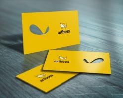 黃色鏤空名片設計模板