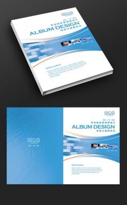 藍色動感科技畫冊封面