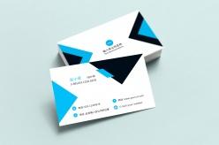 黑藍三角形商務名片