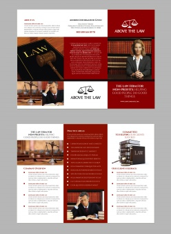 法律公司三折頁畫冊設計