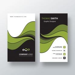 綠色科技名片模板