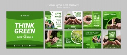 保護地球環保畫冊PSD模板