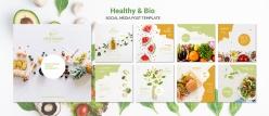 輕食餐飲店正方形宣傳畫冊設計