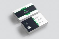黑綠商務名片模板