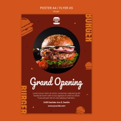 漢堡海報模板源文件