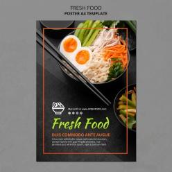 生鮮食品廣告模板傳單