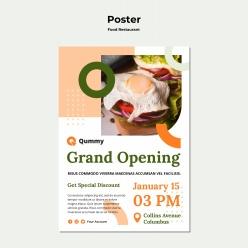 食品概念海報模板