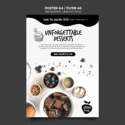 健康食品海報模板